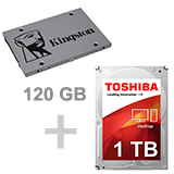 120 SSD + 1TB