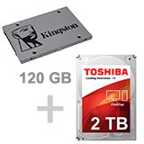 120 SSD + 2TB