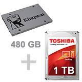 480 SSD + 1TB HDD