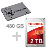 480 SSD + 2TB HDD