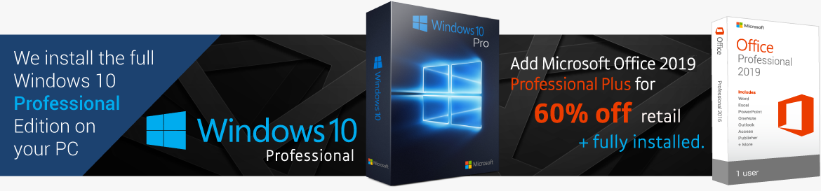 Get Windows 10 Pro and Microsoft Office 2016 Professional On Your Desktop PC