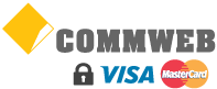 Ultra-secure Visa & Mastercard credit & debit card payments via CommWeb